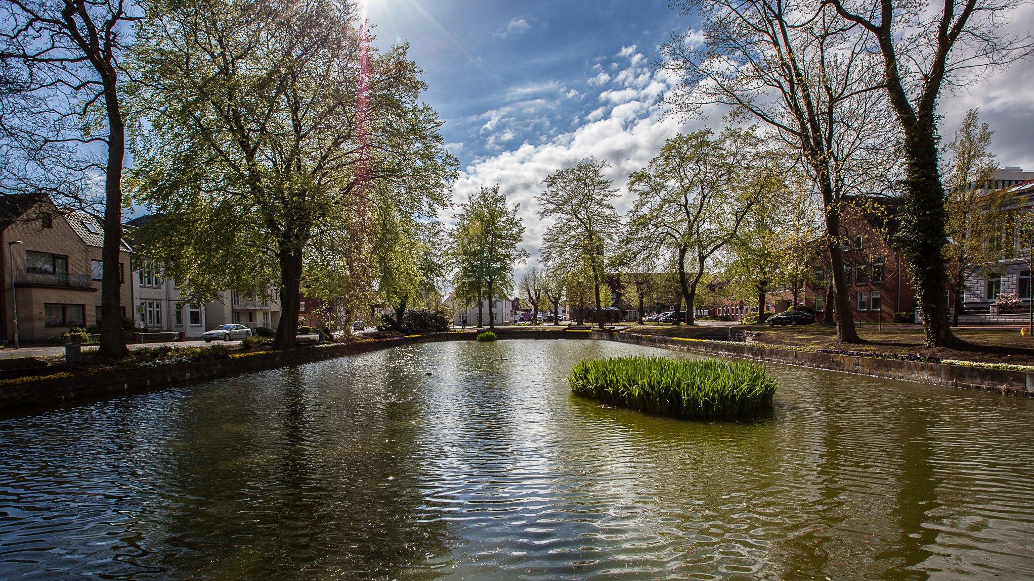 Kleiner Teich in Heide am Wasserturm