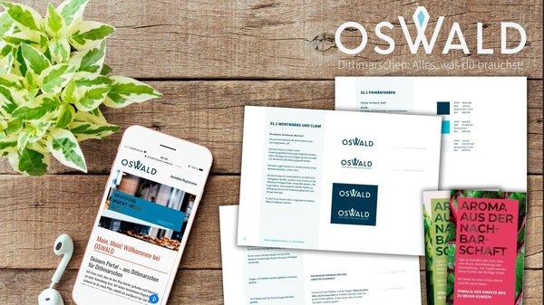 Mockup von Oswalds Präsenzen
